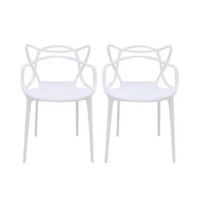의자 추천 - 아트체어 식탁의자 2개 세트, 화이트